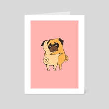 Pug Hugs - Art Card by huebucket