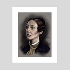 Anne Lister colorized portrait  - Art Print by Marlaina  Mortati
