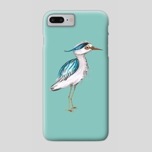 Funny blue heron - Phone Case by Bianca Wisseloo