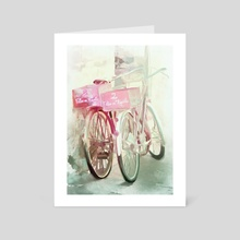 Two Bicycles - Art Card by Chintami Ricci