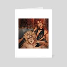 Kakyoin & Dio - Art Card by Miyu