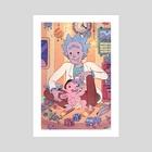 Rick and baby Morty - Art Print by Boya Sun