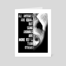 Animal Farm - Art Card by Ashley Wann
