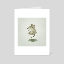 Meditating Rat - Art Card by Florian Biege