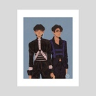 Tae and Kook x Harness  - Art Print by Felicity