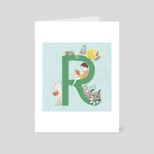 R is for Reading - Art Card by Angela Keoghan
