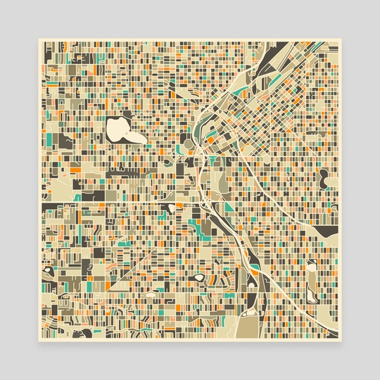 Denver Map by Jazzberry Blue