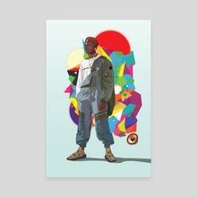 Black Man - Canvas by Jabriel Najjar