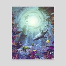 Luminous Descent - Canvas by Jeffrey Smith