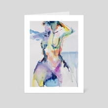 And the girl kept dancing - Art Card by Per Kunst