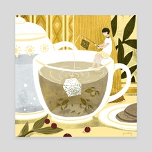 Tea cup fishing - Canvas by Yuan-Ting Tsai