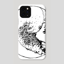 Horrific / Great Wave - Phone Case by Elizaveta Nazarova