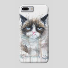 Not a Happy Kitty - Phone Case by Olga Shvartsur