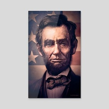 Lincoln - Acrylic by Dominick Saponaro