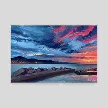 Sky Study #2 - Canvas by Alessia Colognesi