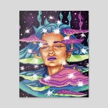 Mushroom Empress - Acrylic by Roberto Atanacio Jr.