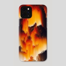 Abstract Glitch Art 14 - Phone Case by 1X NewArt