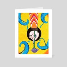 The Blue Rose - Art Card by Cass Elder
