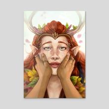 Daughter - Acrylic by Galactic Jonah