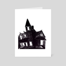Haunted House - Art Card by Ryan Hanson