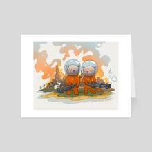 Cosmic Cats - Art Card by Pasha Barashkov