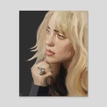 Blonde Bil - Acrylic by Tora Crank