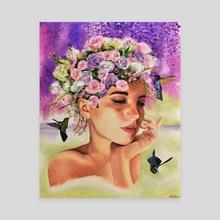 Garden - Canvas by Alexandra Verhoven