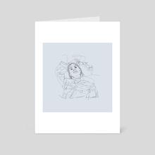"One Line Artwork ""Flower Girl"" - Art Card by Philipp Mollet"