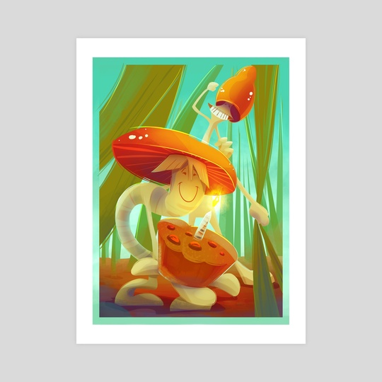 Mushrooms  by Polina Trofimova