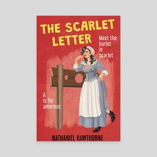 The Scarlet Letter - Canvas by Grace Bejnarowicz