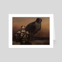 Abzan Falconer - Art Card by Steven Belledin