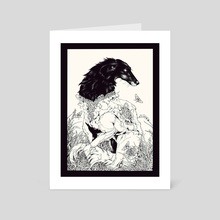 Borzoi  - Art Card by Briar  Buysse
