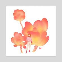 Kalanchoe - Canvas by Nicartdaily