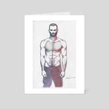 purple man - Art Card by Krzysztof Wielkopolski