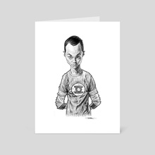 Sheldon Cooper - Art Card by Priyatham Sri