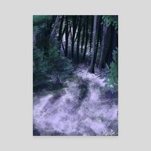 Purple Forest - Canvas by Meriza Gomez