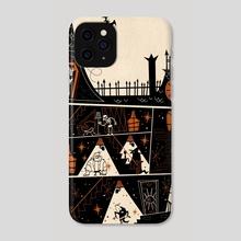 Haunted House Orange - Phone Case by Kirsten Shiel