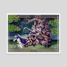 Forest Ax Murder - Canvas by Wendy Martin Art