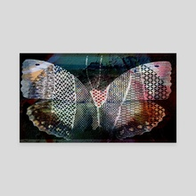grunge butterfly  tatoo - Canvas by Charles Taylor