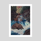 down the river - Art Print by Maria Nguyen