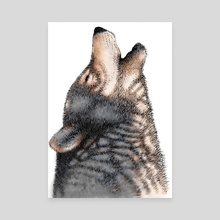 Howling Wolf - Canvas by Carl Conway