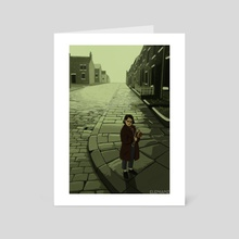 On The Corner Of The Street - Art Card by Eleni