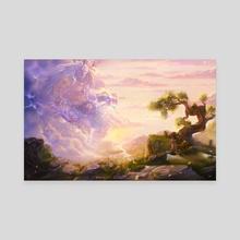 Zeus - Canvas by Lucy Georgina