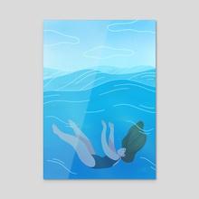 Waves - Acrylic by Maureen Keeney