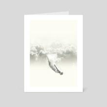 Sky diver - Art Card by Fran Rodriguez