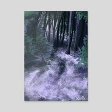 Purple Forest - Acrylic by Meriza Gomez
