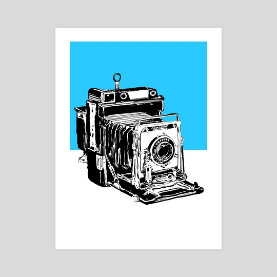 Vintage Graphex Camera in blue by Aiden James