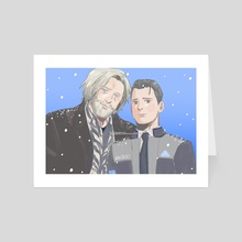 Hank & Connor - Art Card by Mizo