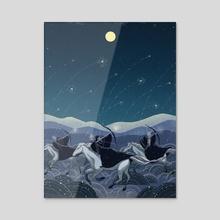 Night Riders - Acrylic by Christina Chung
