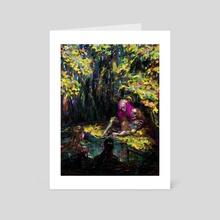Kontakt. Hylas and the nymphs - Art Card by Nadya Plyamko